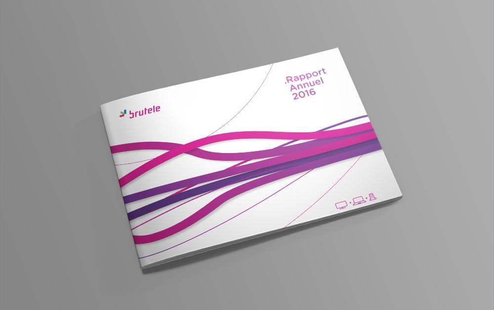 studio witvrouwen layout design graphic mise en page brochure rapport annuel Brutele cover