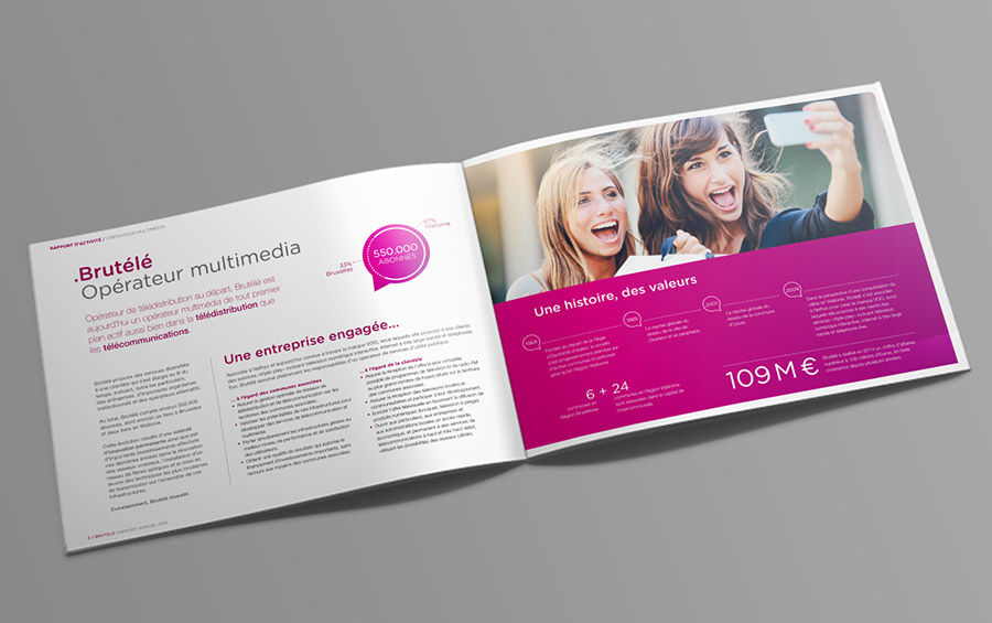 studio witvrouwen graphic design identity branding layout annual report Brutele