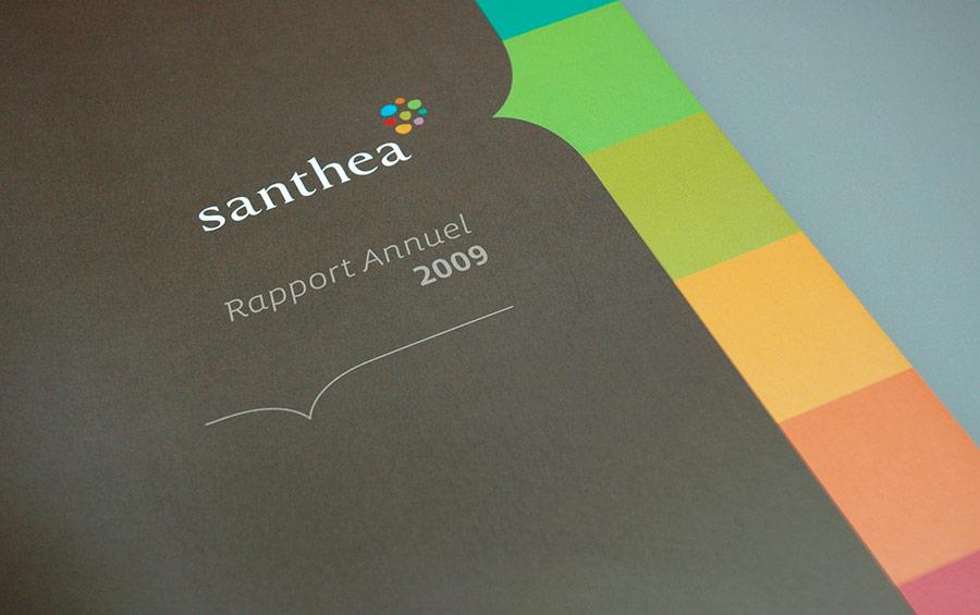 studio witvrouwen graphic design identity branding layout santhéa rapport annuel