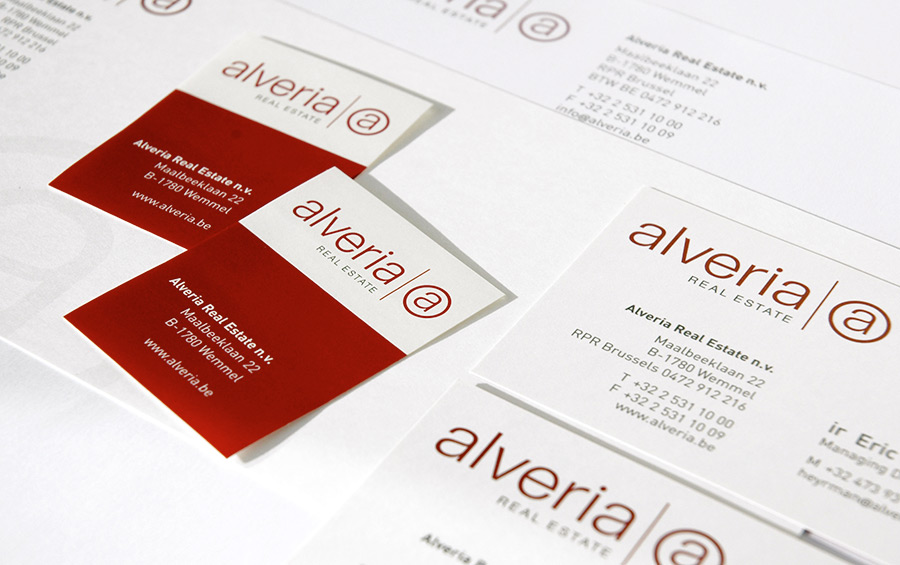 studio witvrouwen graphic design identity branding alveria logo logotype business card