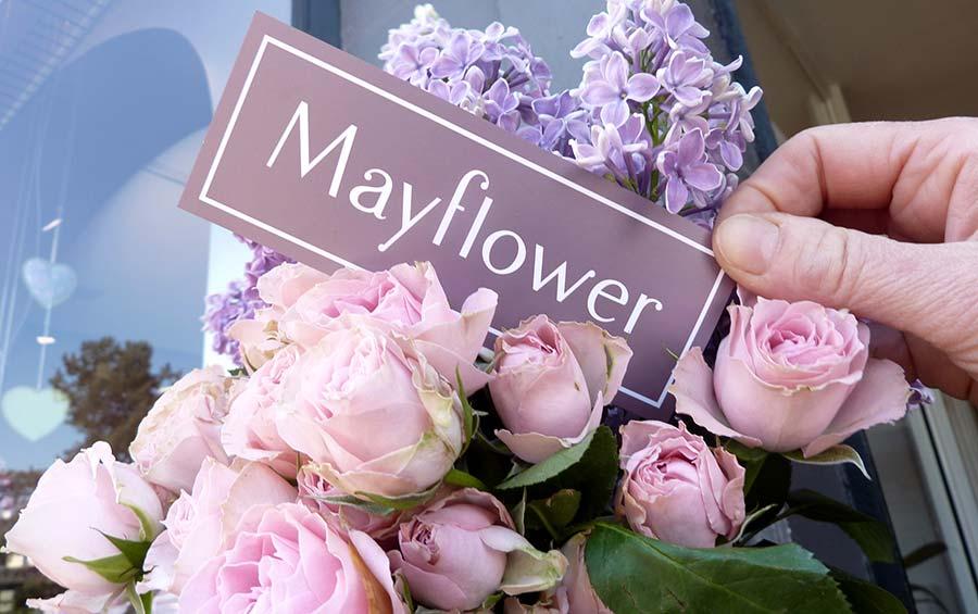 studio witvrouwen graphic design identity branding logotype logo Mayflower