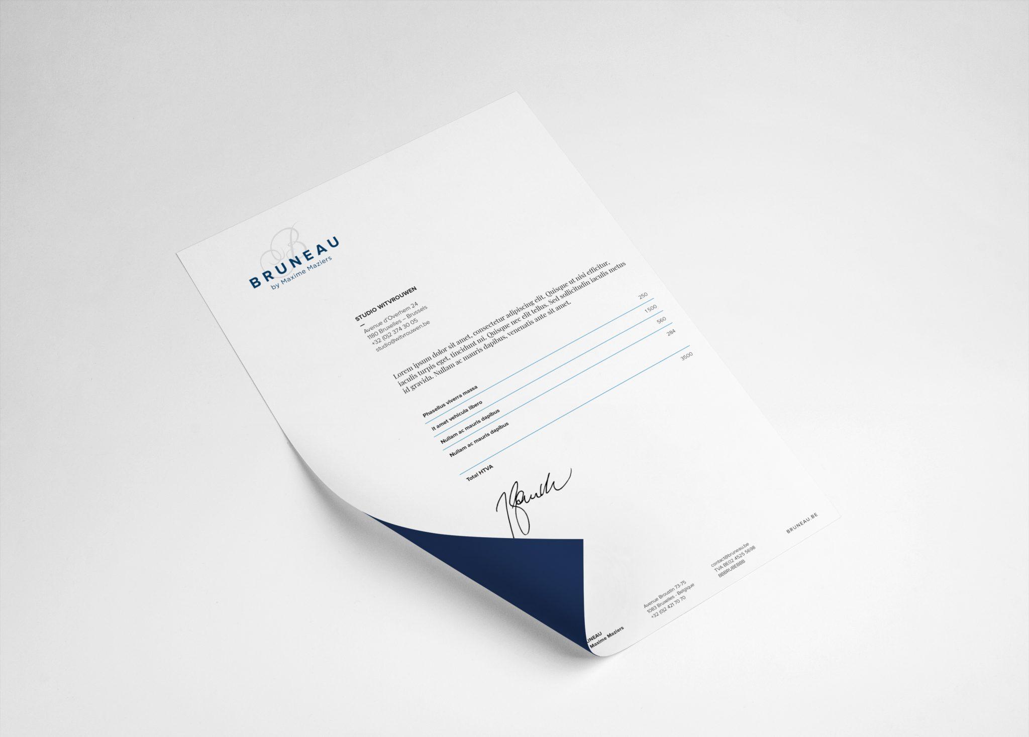 studio witvrouwen graphic design identity branding logotype logo Maxime Maziers chef restaurant layout