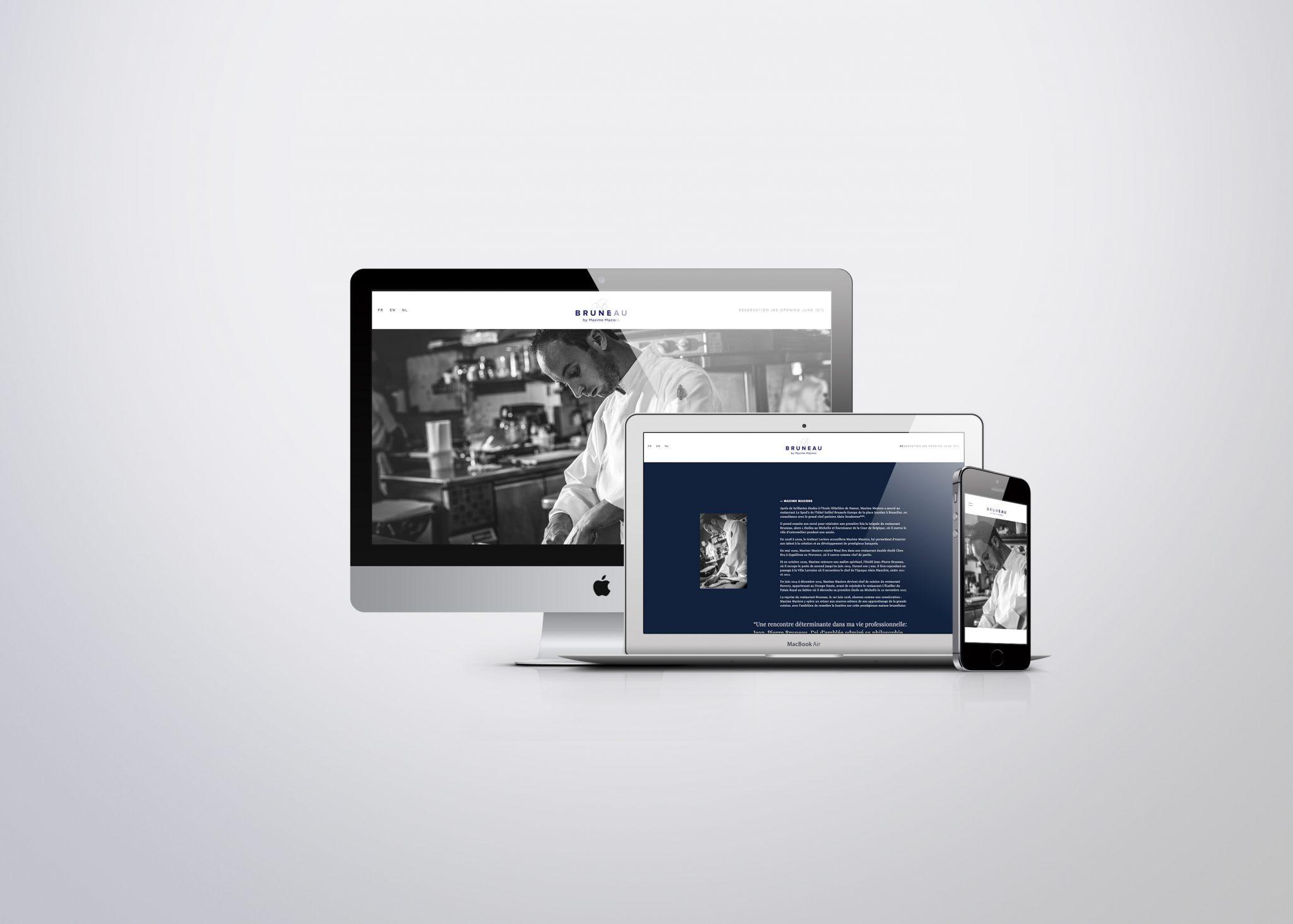 studio witvrouwen graphic design identity branding logotype logo Maxime Maziers chef restaurant web site