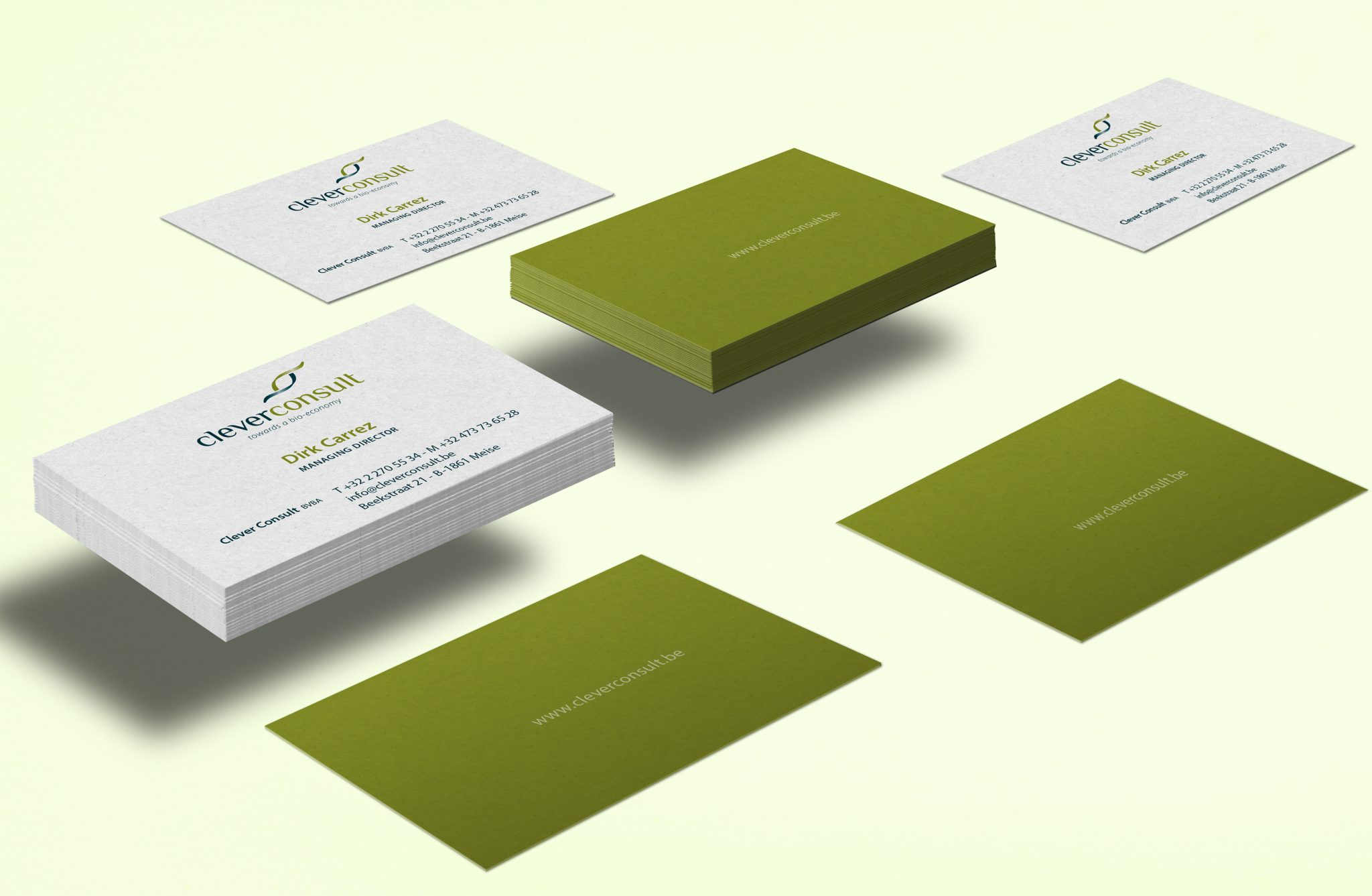 studio witvrouwen branding design graphic color visual identity data design clever consult business card