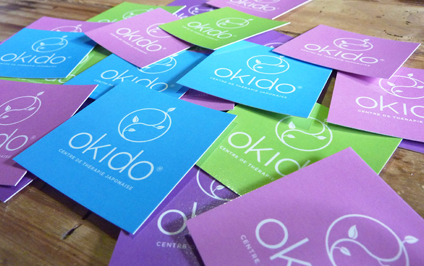 studio witvrouwen graphic design identity branding logotype logo business card Okido