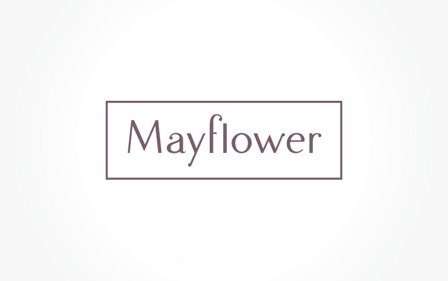 logo brand typography graphic sigle image mayflower